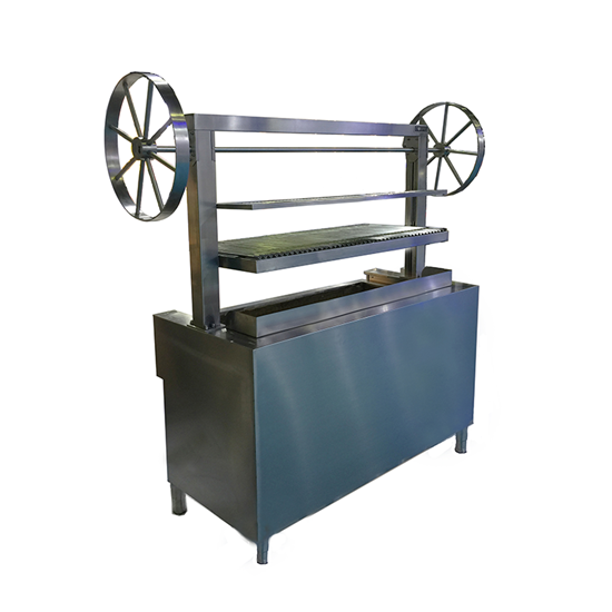 Side Whell Charcoal Grill With Elevator